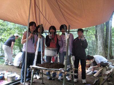 夏季キャンプ